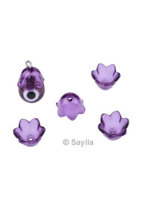 www.sayila.com - Synthetic bead cap flower ± 9,5x6,5mm (hole ± 1,5mm)