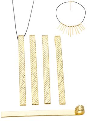 www.sayila.com - Metal pendant/charm decorated ± 60x4mm (eye ± 4mm)