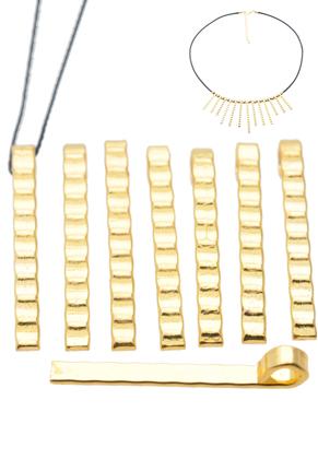 www.sayila-perlen.de - Metall Anhänger geriffelt ± 30,5x3mm (Auge ± 3mm)