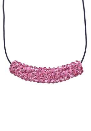 www.sayila.com - Metal bead tube with polymer clay and strass ± 47x9mm (hole ± 4mm)