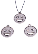 www.sayila.com - Metal pendant/charm smiley ± 23x20mm, (eye ± 2mm) for pointed back round ± 1,5mm (suitable for Swarovski PP9 pointed back) - 35122