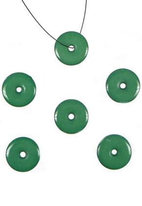www.sayila-perlen.de - BudgetPack Kunststoffperlen flach rund ± 18x3mm