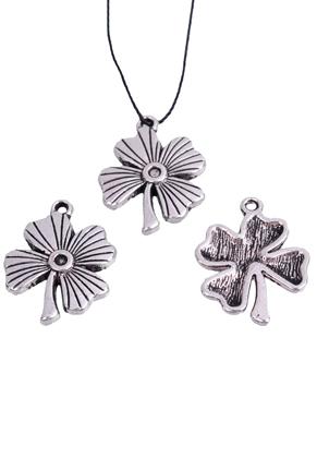 www.sayila.com - Metal pendant/charm four-leaf clover ± 23x18mm
