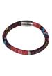 Bracelet textile Aztec, avec fermoir magnétique ± 20x1cm (largeur intérieure ± 18,5cm) (attention: déconseillé aux personnes portant un pacemaker)