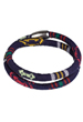 Bracelet wrap textile Aztec, avec fermoir magnétique ± 40x1cm (largeur intérieure ± 19cm) (attention: déconseillé aux personnes portant un pacemaker)