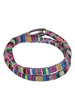 Bracelet wrap textile Aztec, avec fermoir magnétique ± 40x1cm (largeur intérieure ± 18cm) (attention: déconseillé aux personnes portant un pacemaker)