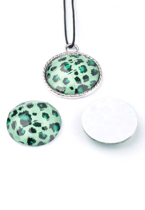 www.sayila.com - Synthetic flatback with panther print 30x7mm