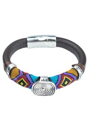 www.sayila.fr - Aztec bracelet en cuir 17cm