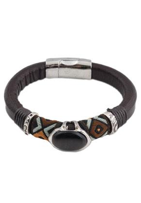 www.sayila.nl - Aztec leren armband 17cm