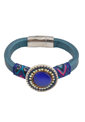 www.sayila.com - Aztec leather bracelet 17cm