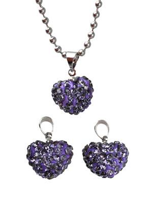 www.sayila.com - Polymerclay pendant/charm heart 20x14mm