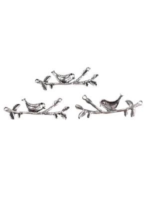www.sayila.com - Metal connector bird on branch 57,5x22mm