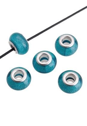 www.sayila.com - Large-hole-style synthetic bead roundel 14x9mm