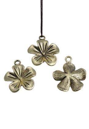 www.sayila.com - Metal pendant flower 23x20mm