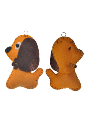 www.sayila.com - Felt pendant dog 7,9x5,4cm