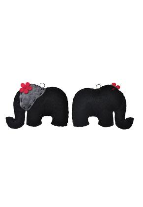 www.sayila-perles.be - Pendentif en feutre, éléphant 8x6cm