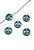 www.sayila.fr - Perle en pierre fine Turquoise howlite, signe de paix 10mm
