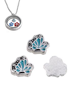 www.sayila.fr - 'Floating charm' en métal, papillon 9mm