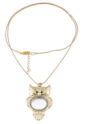 www.sayila.es - Collar de metal 'floating charm locket' lechuza