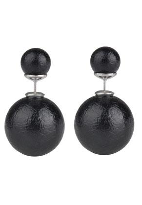 www.sayila-perlen.de - Doppel Perlen Ohrstecker 26x16mm