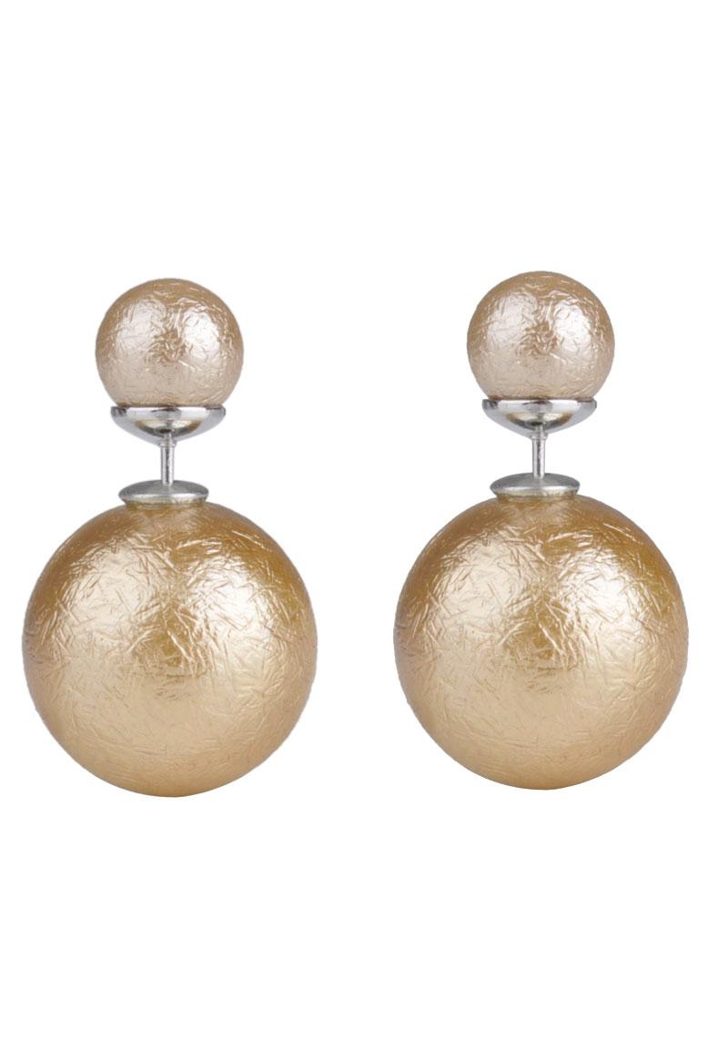 boucles d 39 oreille double perle 26x16mm. Black Bedroom Furniture Sets. Home Design Ideas