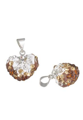 www.sayila.com - Polymerclay pendant/charm heart 20x15mm