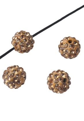 www.sayila.com - Polymer clay bead round with strass 10mm