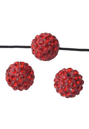 www.sayila.fr - Perle en argile polymère, circulaire avec strass, 12mm