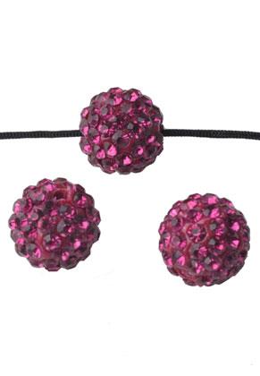 www.sayila.com - Polymer clay bead round with strass 12mm