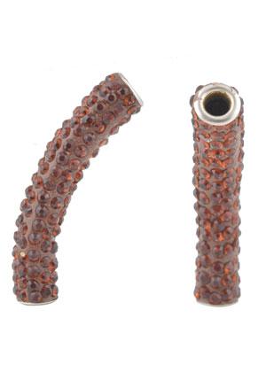 www.sayila.com - Bead/tube with strass 48x12mm