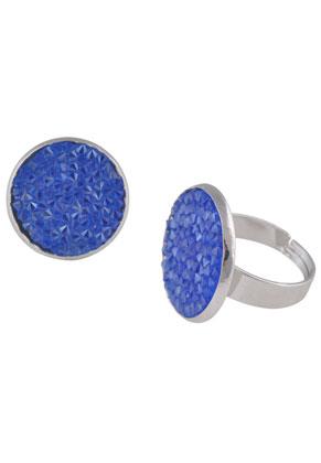 www.sayila.co.uk - Brass finger ring with strass
