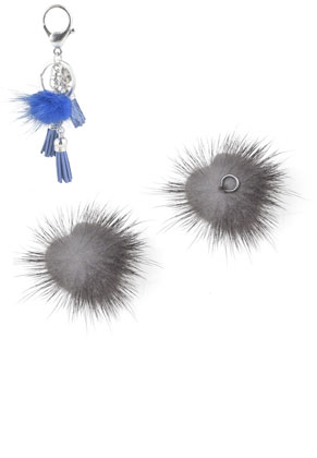 www.sayila.nl - Pluizenbol met metalen oogje 30mm