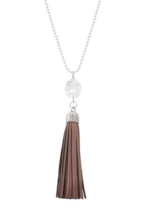 www.sayila-perlen.de - Edelstahl Halskette mit Quaste