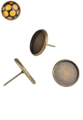 www.sayila.nl - Metalen oorstekers 16x13mm voor 14mm plaksteen