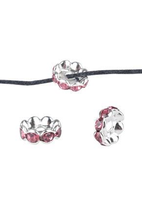 www.sayila.com - Brass bead roundel with strass 8x3,5mm