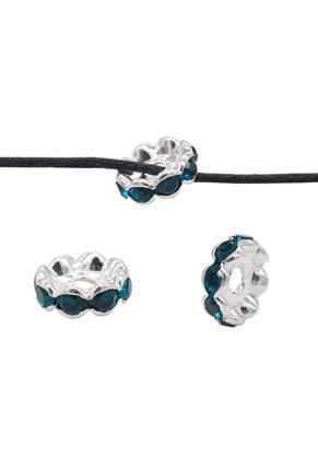 www.sayila.com - Brass bead roundel with strass 10x3,5mm