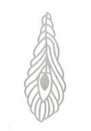 www.sayila.fr - Pendentif/marque-pages de métal plume 64x22mm - 37918
