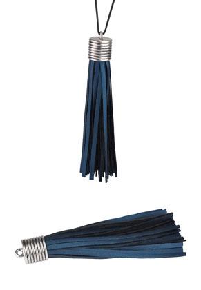 www.sayila.nl - Imitatieleren kwastje met metalen kapje 11x3cm