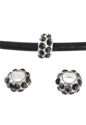 www.sayila.com - Metal bead roundel with strass 6x4mm