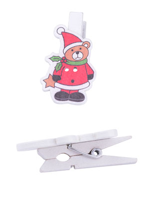 www.sayila.com - Budgetpack wooden clips christmas 51x27mm