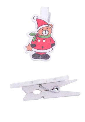 www.sayila.nl - Budgetpack houten knijpers kerst 51x27mm