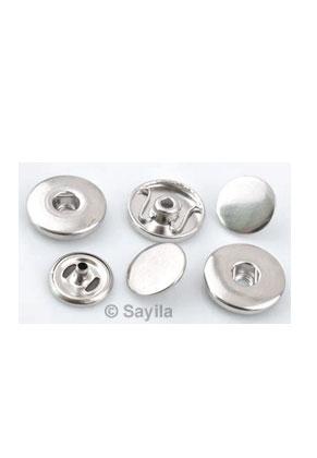 www.sayila.fr - Set de serti DoubleBeads EasyButton en métal pour bouton-pression, 2 trous ± 19x5mm pour placer à tissu vous- même (approprié pour EasyButton taille: L)