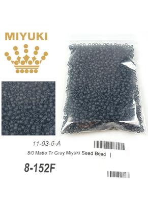 www.sayila.nl - Miyuki Glas rocailles/borduurkralen 8/0 ± 3x2mm (± 190 st.) - Transparant Matte Gray 152F