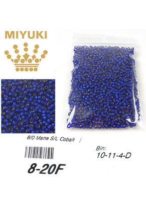www.sayila.com - Miyuki Glass seed beads 8/0 ± 3x2mm (± 190 pcs) - Silverlined Matte Cobalt 20F