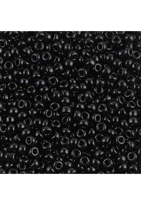 www.sayila.nl - Miyuki Glas rocailles/borduurkralen 8/0 ± 3x2mm (± 190 st.) - Opaque Black 401
