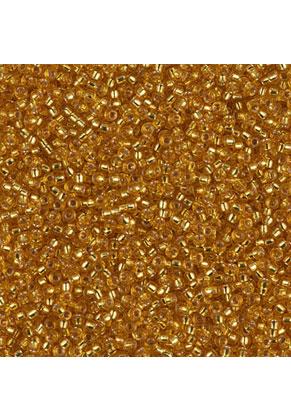 www.sayila.nl - Miyuki Glas rocailles/borduurkralen 15/0 ± 1,6x1mm (± 1250 st.) - Silverlined Dark Gold 4