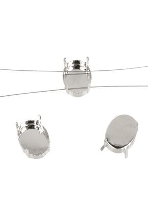 www.sayila-perlen.de - Metall Verteiler mit Fassung 17,5x12,5mm