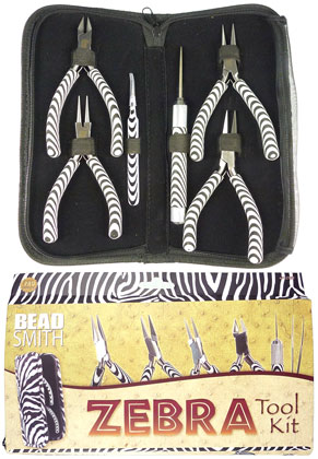 www.sayila-perlen.de - Beadsmith Zebra Zangensatz/Werkzeugsatz