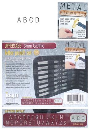 www.sayila.com - Beadsmith letter punch set Gothic uppercase