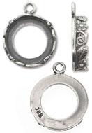 www.sayila-perlen.de - Metall Anhänger rund 20x16x4,5mm Fassung für Klebstein 14mm - A00755